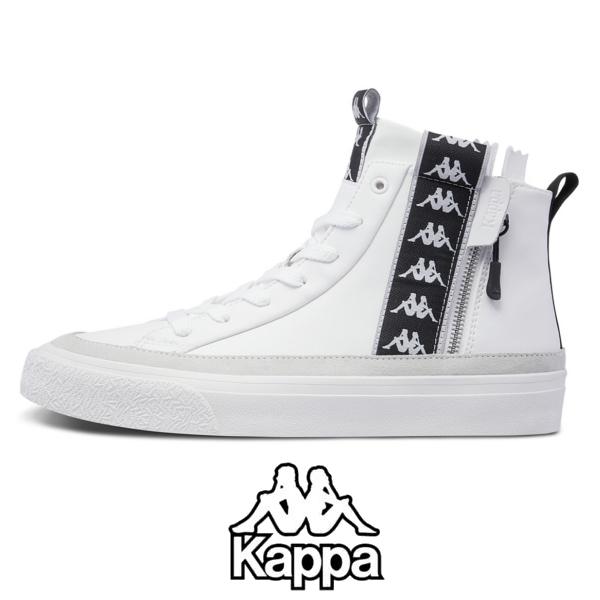 KAPPA/カッパ/レザースニーカー/メンズ/2019春夏新作/ K09W5CC4/靴/ホワイト/WHITE/41/42/43【あす楽】