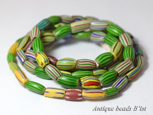 【1506】ANTQヴェネチア多彩メロンビーズ一連3【とんぼ玉】【アンティークビーズ】【ビーズ】【パーツ】【骨董】【antiquebeads】【beads】【ベネチア】【ハンドメイド】