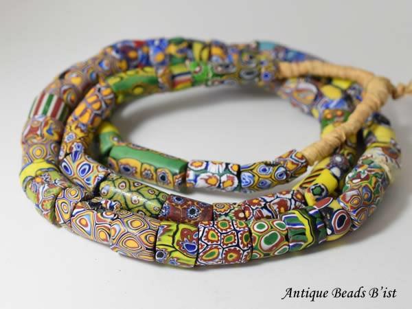 【1606】ANTQヴェネチア良質ミルフィオリビーズ一連 beads】【とんぼ玉】【アンティークビーズ】【ビーズ】【パーツ】【送料無料】【骨董】【ベネチア】【antique beads】, 春早割:22870250 --- m.vacuvin.hu