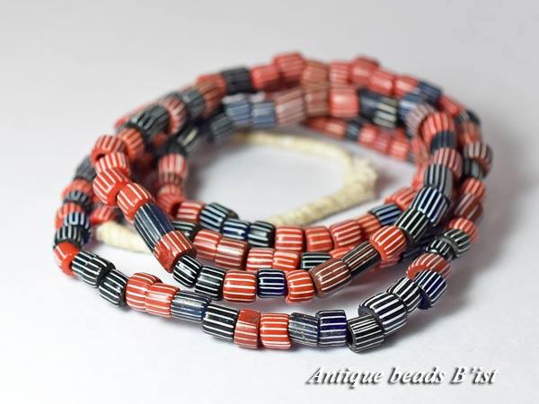 【1704】ANTQヴェネチア赤色MIXグーズベリー一連1【とんぼ玉】【アンティークビーズ】【送料無料】【ビーズ】【パーツ】【骨董】【antiquebads】【beads】【1704-3】