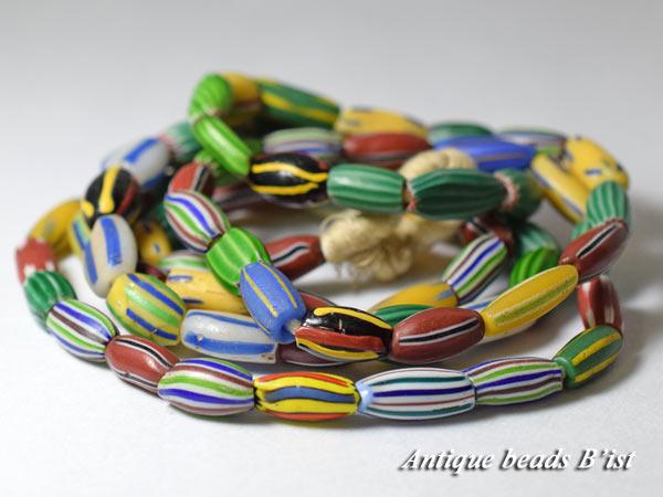 【1709】ANTQヴェネチア多彩メロンビーズ一連5【とんぼ玉】【アンティークビーズ】【送料無料】【ビーズ】【パーツ】【骨董】【antiquebeads】【beads】【ベネチア】