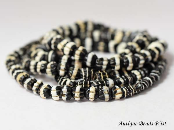 【1803】ANTQヴェネチアドッグトゥースビーズ一連3【とんぼ玉】【アンティークビーズ】【ビーズ】【パーツ】【骨董】【antiquebeads】【beads】【ベネチア】【ハンドメイド】【送料無料】