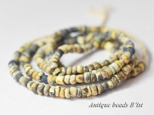 【1704】古代ローマン中小粒MIXニラビーズ一連5【とんぼ玉】【アンティークビーズ】【ローマングラス】【ビーズ】【パーツ】【antiquebeads】【骨董】【beads】【古代ガラス】【送料無料】