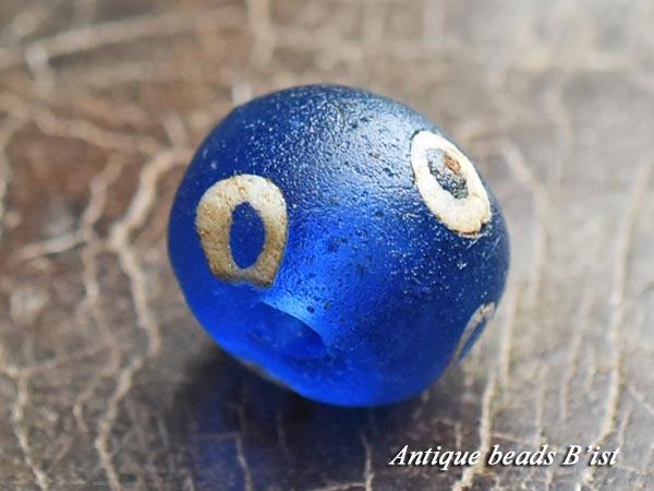 【1705】古代ローマン6眼貼付セミクリアブルーアイビーズC5【とんぼ玉】【アンティークビーズ】【ビーズ】【骨董】【蜻蛉玉】【antiquebeads】【beads】【古代玉】【古代ガラス】【送料無料】