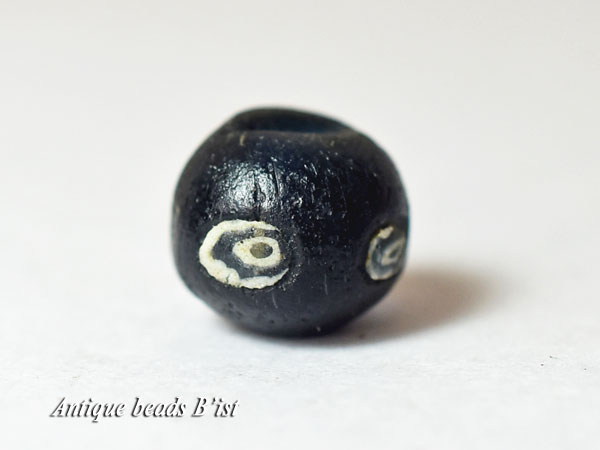 【1706】古代ローマン4眼貼付セミクリアブルーアイビーズD4【とんぼ玉】【アンティークビーズ】【ビーズ】【骨董】【蜻蛉玉】【antiquebeads】【beads】【古代玉】【古代ガラス】【送料無料】