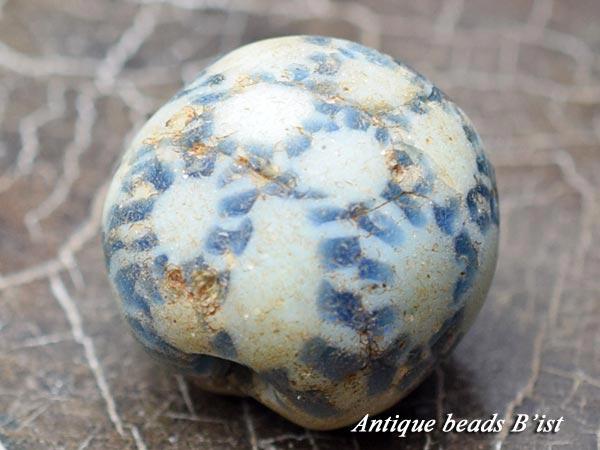 【1512】ジャワ島出土多眼貼付青色モザイク玉2【とんぼ玉】【トンボ玉】【ビーズ】【パーツ】【骨董】【アンティークビーズ】【antiquebeads】【beads】【送料無料】