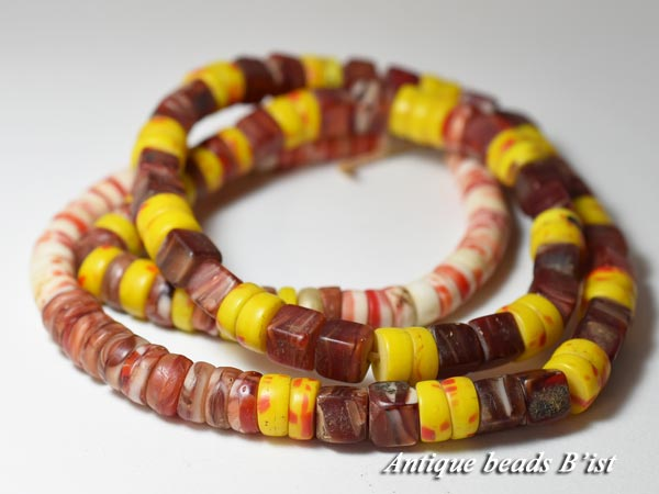 【1603】ANTQボヘミアカンカンバMIXビーズ一連A5【とんぼ玉】【アンティークビーズ】【ビーズ】【パーツ】【チェコ】【送料無料】【antiquebeads】【beads】