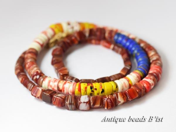 【1704】ANTQボヘミアカンカンバ多形状玉MIX一連3【とんぼ玉】【アンティークビーズ】【ビーズ】【パーツ】【チェコ】【antiquebeads】【beads】【ボヘミア】【送料無料】