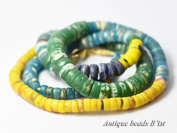 【1705】ANTQボヘミアカンカンバ多彩ビーズMIX一連9【とんぼ玉】【アンティークビーズ】【ビーズ】【パーツ】【チェコ】【antiquebeads】【beads】【ボヘミア】