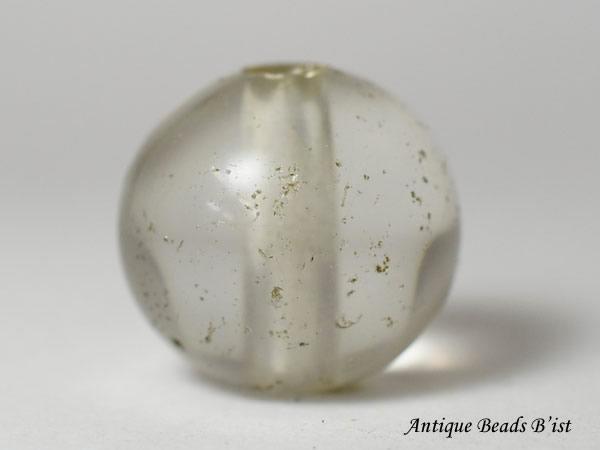 【1812】江戸とんぼ玉 ずっしり重い球形透明大玉1【とんぼ玉】【トンボ玉】【送料無料】【骨董】【根付】【和玉】【アンティークビーズ】【antiquebeads】【beads】