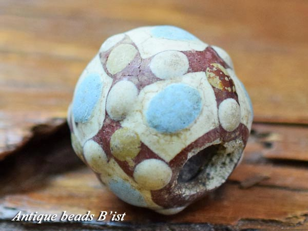 【1409】中国ファイアンス戦国大玉4【とんぼ玉】【トンボ玉】【送料無料】【戦国玉】【ビーズ】【骨董】【antiquebeads】【beads】【アンティークビーズ】
