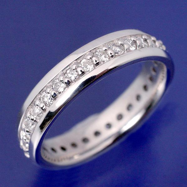 【出産祝い】プラチナ・pt900・ベビーリング・ダイヤモンドフルエタニティー・「Towa 永遠の絆」【送料無料】