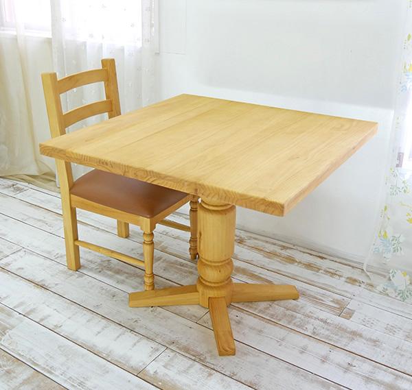 【カントリーパイン70×75cmダイニングテーブルチェアセットbj-bav70lr-gan1-na】パインカフェテーブル/カントリーパインテーブルセット