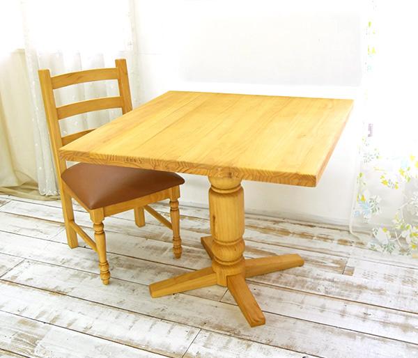 【カントリーパイン90cmダイニングテーブルbj-bav90lr-na】パインダイニングテーブル/カントリーパイン一本脚テーブル
