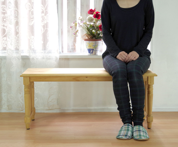【カントリーパインベンチ 幅100cm】木製ベンチオイル仕上げ、カントリーテーブルベンチ