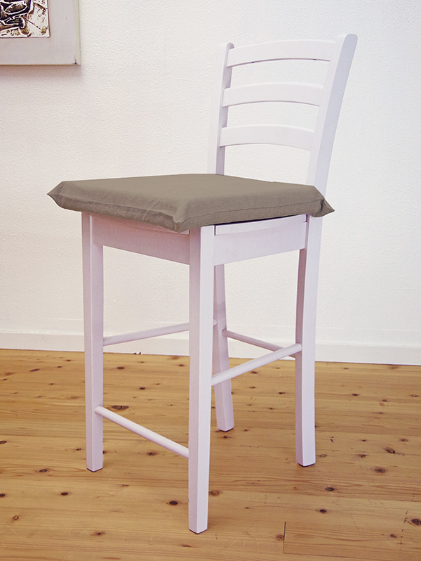 【木製カウンターチェア/CCK408/ホワイト(白色)+ラテックスシートクッション(カバー付き)】カウンターチェア/木製ハイカウンタースタンド椅子白色