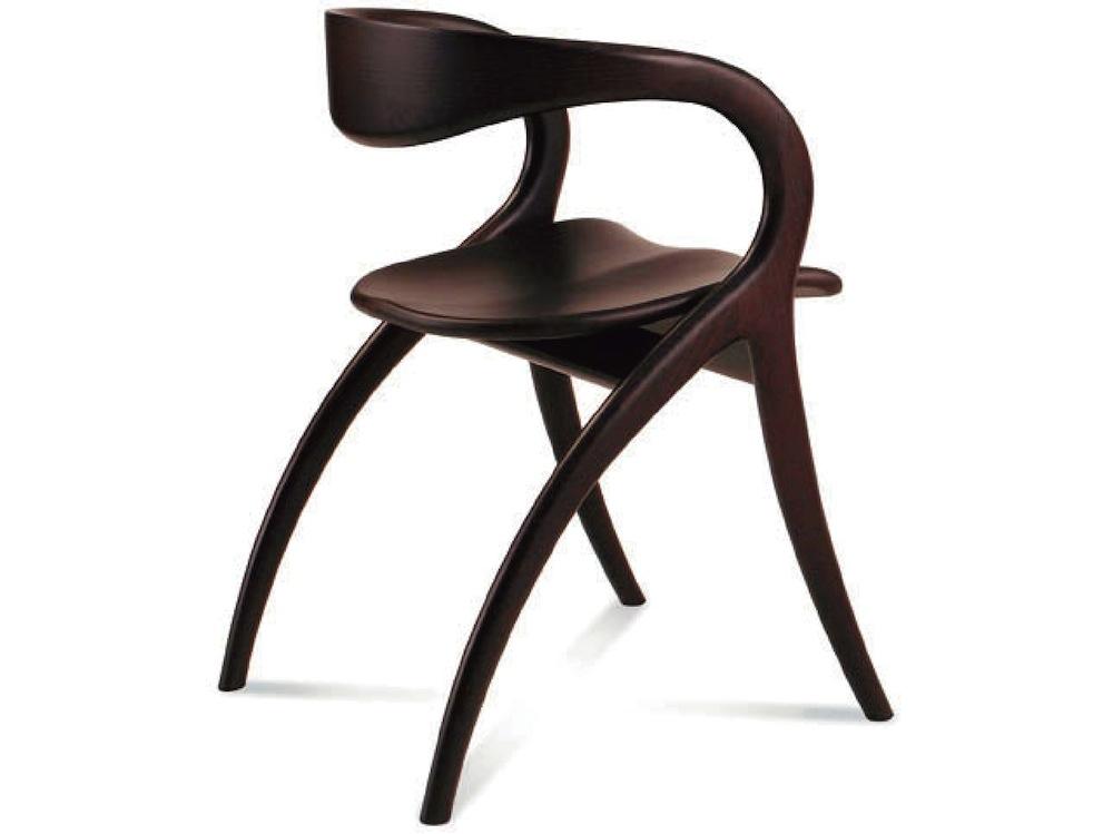 【座面高約46cm/木製ダイニングチェア/STAR】木製チェア/イタリア製/ウェンジ色