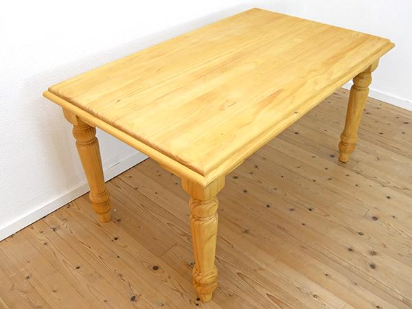 カントリー調 140cm 無垢パイン材 ダイニングテーブル 単品 オイル仕上げ 無垢木製 4人家族用 ダイニングテーブル 化学物質過敏症の方におススメの家具 ホルムアルデヒド フォースター以上の水準 安心安全家具