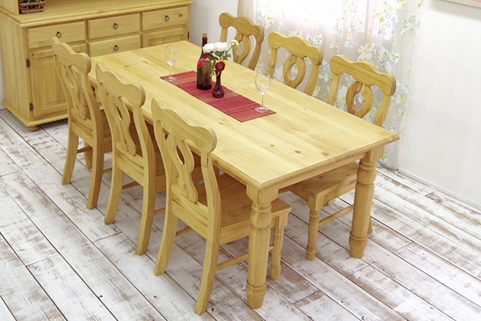 190cm Country Dining Table Set Natural Color Mwdt19bj Lac6 Pine Dining Table Set 190cm Wide Table Natural For The Pure Materials Natural Country