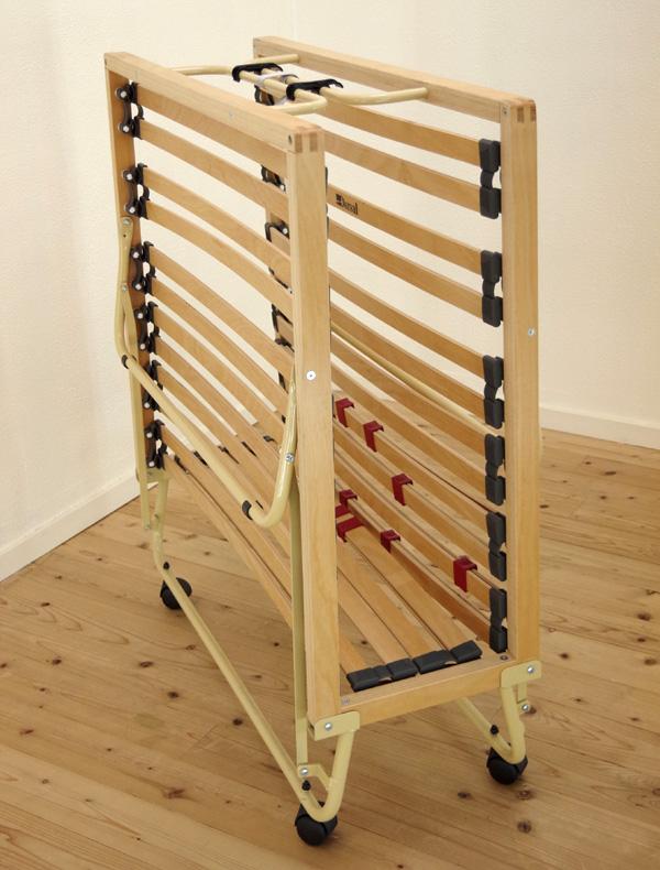楽天市場】収納式ウッドスプリングベッド 【折りたたみ収納ウッド