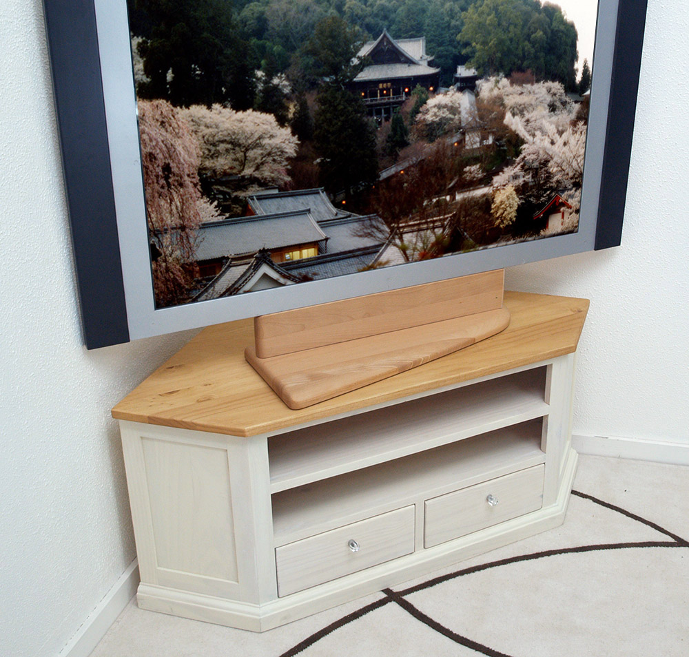 White Country Tv Stand French Furniture Pine Board