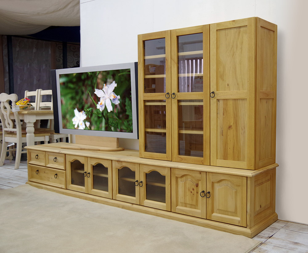 Width 240 Cm Pine Solid Wood Large Tv Stand Wide 2m40cm Sideboard Storage Cabinet