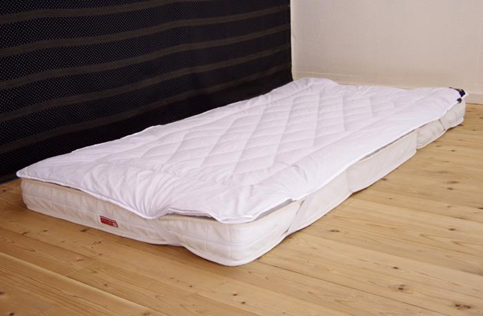 120cm幅【快眠寝具/敷き布団/キャメルウール100%】敷き布団用、セミダブルベッドにも使える