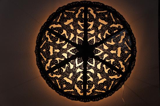 【送料無料!】電球、コード付!特大サイズのアイアン壁掛けランプ!直径100cm!NL-067 / ブラケット ランプ 壁掛ライト インテリア 照明 間接照明 モダン 照明器具 アジアンランプ アジアンインテリア アジアン家具