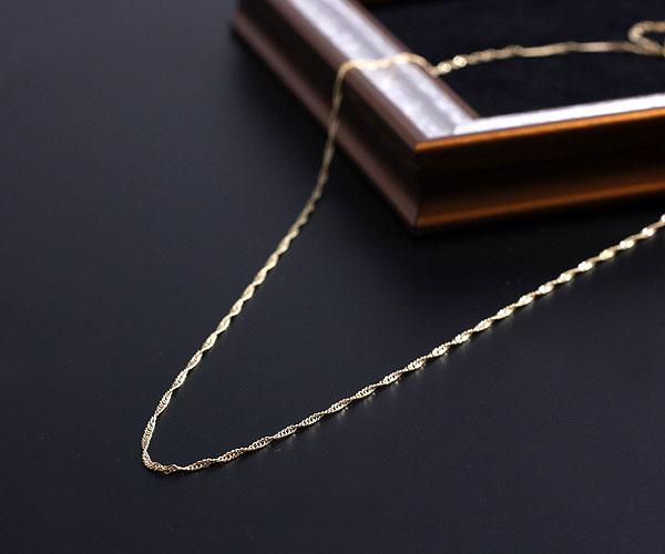 美國製造 45 釐米項鍊男女皆宜的 14 KGF 中性 14 k goldfilled 新加坡 goldfilled 鏈項鍊 K14GF 金鏈西部黃金黃金首飾飾品 45