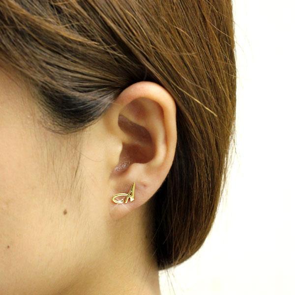 Initial Earrings Metal Allergy Free Las Gold Alphabet Stainless Steel Stud