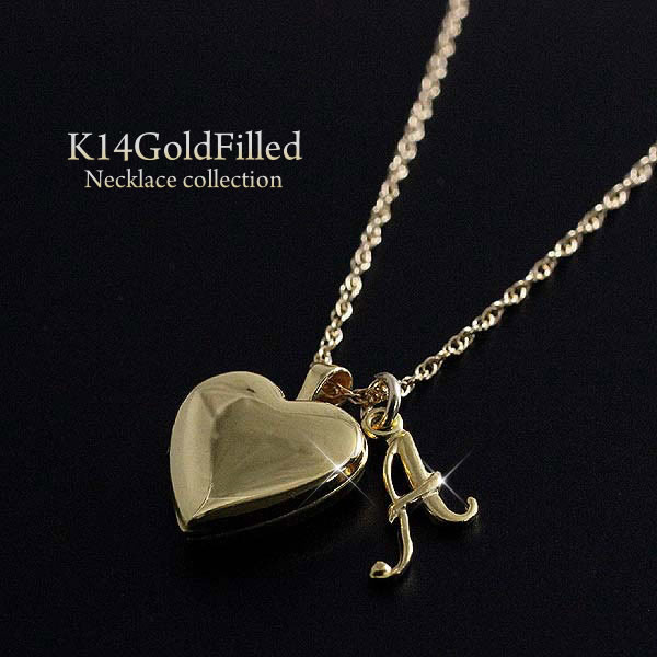 Accessoryshopbarzaz rakuten global market k14 goldfield 14 kgf k14 goldfield 14 kgf heart locket rocket necklace heart shaped support case with gold initials gift presents luxury jewelry 18 k gold coating virgo men mozeypictures Images