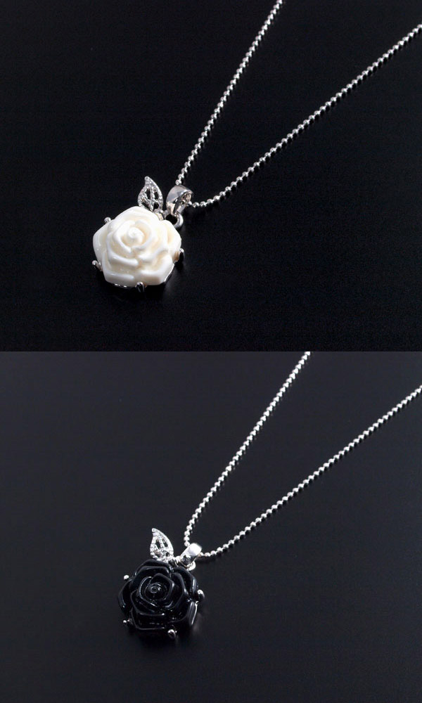 Accessoryshopbarzaz rakuten global market necklace young girl men the rose motif which is an adult like and is femininebut somewherethe coolness is felt too to image european cityscape it is the necklace of the chic aloadofball