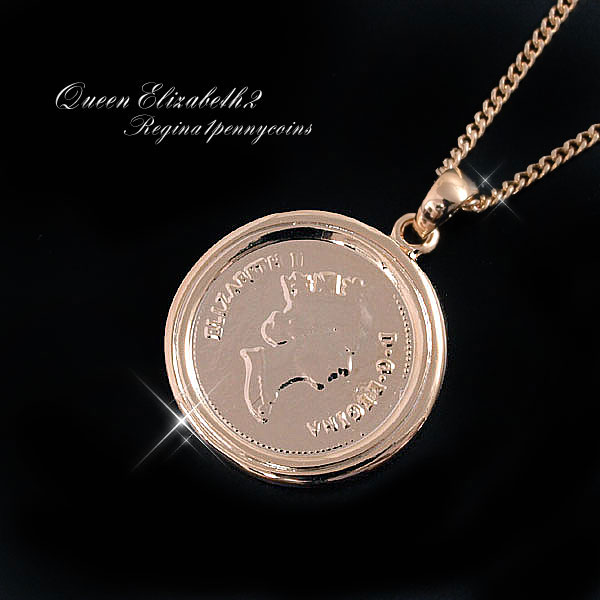 ★Half price! Super sale ★ coin necklace gold men accessories Shin pull cool  male pendant good-looking guy coordinates men fashion coin motif 1 cent