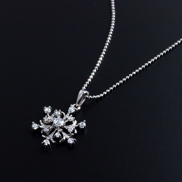 Accessoryshopbarzaz rakuten global market cute packet gold silver cute packet gold silver necklaces pendants gift exchange season necklace snow crystal winter snow crystals snow aloadofball Images