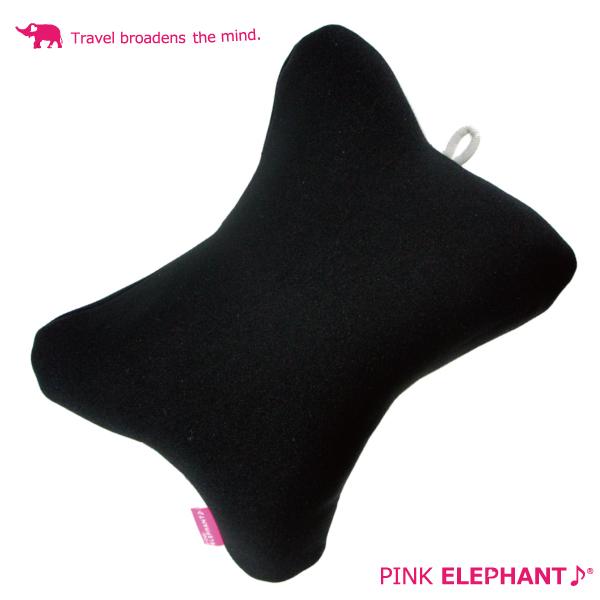 旅先の移動時やお昼寝にも あす楽対応 PINK ELEPHANT 70%OFFアウトレット ピンクエレファント トラベルクッション もちろん カラー:BLK ブラック ふだんのお昼寝やドライブにも最適 旅先でもコレがあれば超リラックス SALE開催中