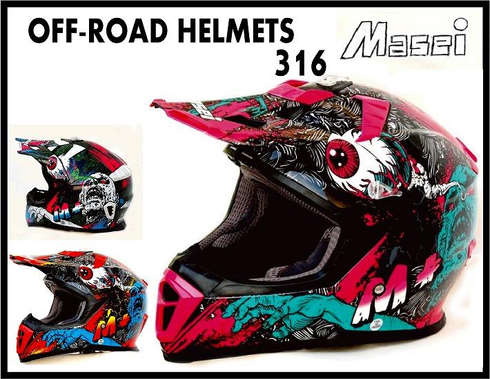 【送料無料!!】オフロード ヘルメット316 Masei(マセイ)