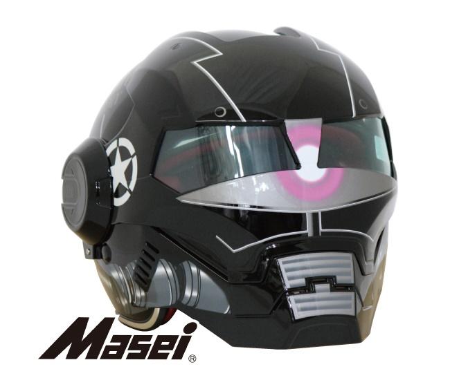 【送料無料!!】Masei(マセイ) ジェットヘルメット ロボヘル610Z 艶ブラック