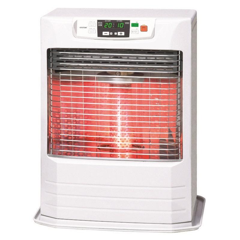 トヨトミ 赤外線と温風のダブル暖房 FF式石油ストーブ FR-V3602 ホワイト (木造~10畳/コンクリート~15畳) リビルト品