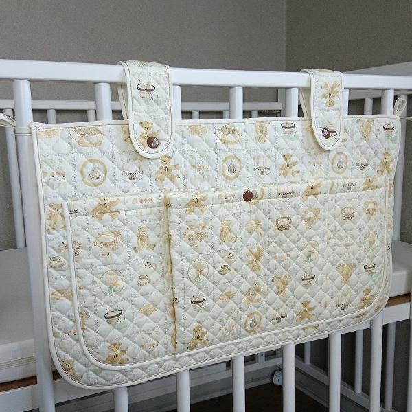 ベビーベッド 小物入れ ジュビリー サイドポケット ウォールポケット 日本製 送料無料 ベッド周り 収納 吊り ベビー 赤ちゃん かわいい おしゃれ