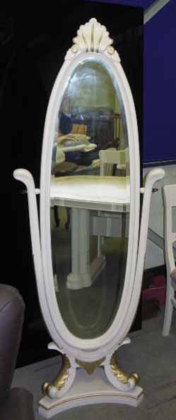 スタンドミラー 立て鏡 ロココ調クラシック家具 アンティーク風 ベルサイユ