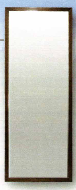 大型ミラー 木質フレーム ウォールナット 壁掛け型 長方形 特価