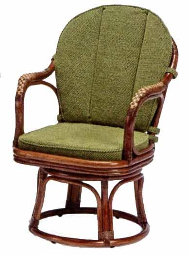 01-0191-79 風間(カザマ) KAZAMA ニューアモールシーベルチェア 回転椅子 アームチェア ラタン家具  籐家具
