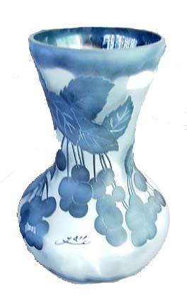 ガレ調花瓶 花器 アールヌーボースタイル エミールガレ風 【送料無料】
