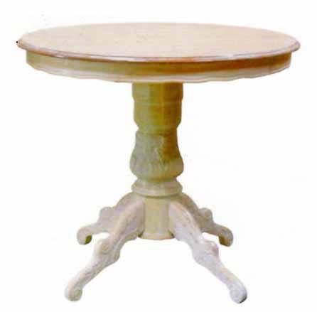 アンティーク調テーブル 丸テーブル ラウンドテーブル 直径80cm クラシック家具 ロココ ネコ脚 【送料無料】