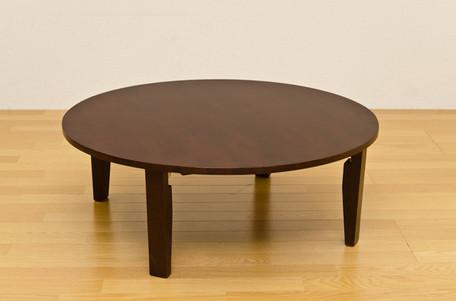 ラウンドテーブル 90cm 円卓 ミディアムブラウン・ダークブラウン・ナチュラル 3色展開【送料無料】