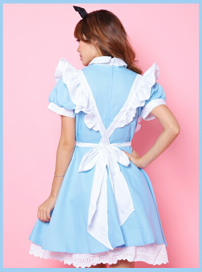 halloween cosplay luxury 4 piece set the image of popular alice in wonderland costume refreshing blue dress with white apron is cute