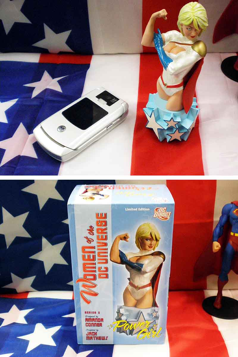 Power girl ☆ mini-bust, 5000 limited production ☆ Power Girl and Women Of  The DC Universe ☆ DC Direct