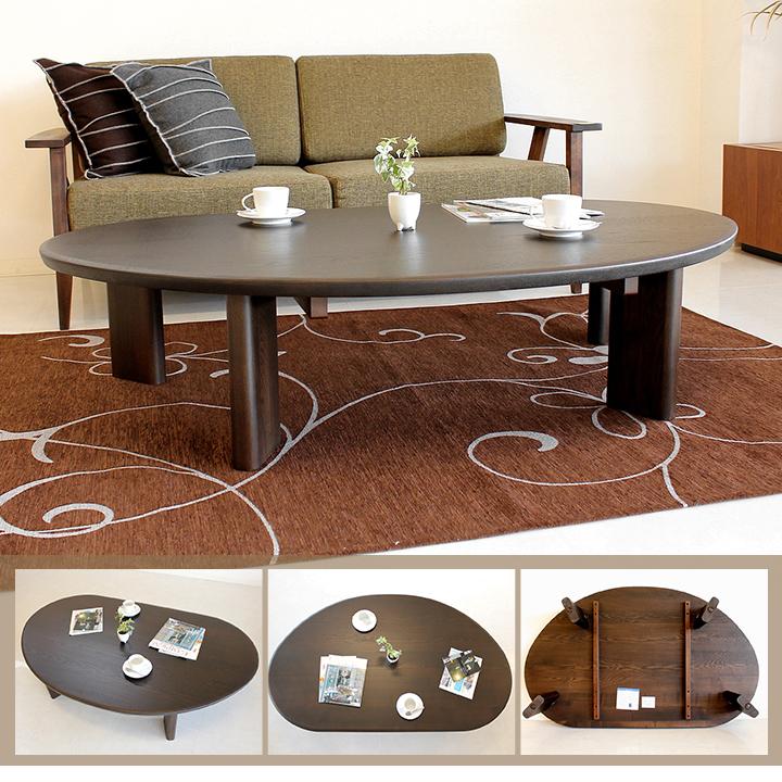総天然木 テーブル座卓 タモ無垢 リビングテーブル 国産 半円形テーブル センターテーブル テーブル ローテーブル