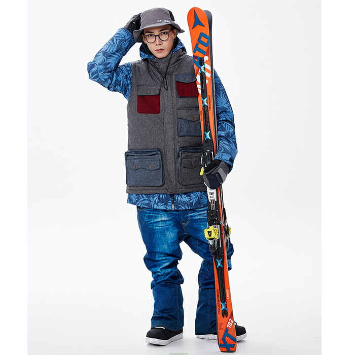 Denim print snowboard are men's Bob pants denim KELLAN kerann EDITH Edith snoboware men's snow were jeans snowboard ski XXL 3 l large size ski snobar were snowboard were snowboard snowboarding men