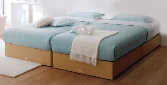 ASLEEPシングルベッド スターリナ ヘッドレスタイプ ベーシックタイプ※別途料金でレッグタイプ、ドロアー(引出有)タイプに変更できますナチュラル色orミディアムブラウン色別料金で床板をポプラスノコに変更可能マット別